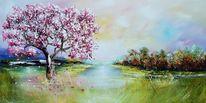 Modern painting original, Landschaft, Natur, Malerei