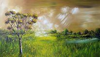 Gemälde, Modern, Natur, Malerei