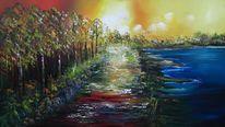 Fantasie, Natur, Moder, Malerei