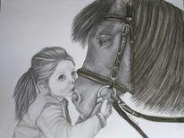 Zeichnung, Bleistiftzeichnung, Zeichnungen, Mädchen