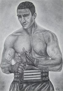 Bleistiftzeichnung, Portrait, Skizze, Weltmeister