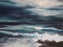 Meer, Landschaft, Malerei, Wasser