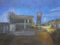 Tankstelle, Malerei,