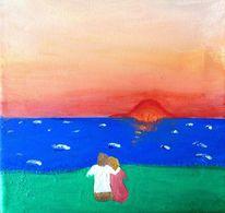 Wasser, Meer, Landschaft, Paar