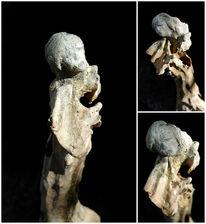 Acrylmalerei, Skulptur, Treibholz, Zeitgenössisch
