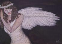 Malerei, Acrylmalerei, Engel