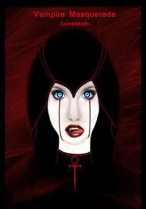 Düster, Rot schwarz, Maskerade, Vampir