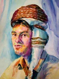 Kopfbedeckung, Mann, Tradition, Malerei