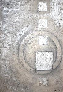 Acrylmalerei, Struktur, Malerei, Kubus