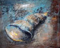 Struktur, Acrylmalerei, Malerei, Muschel