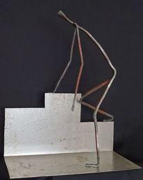 Metall, Eisen geschmiedet, Skulptur, Plastik