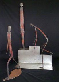 Skulptur, Eisen geschmiedet, Metall, Plastik