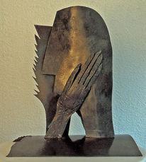 Skulptur, Eisen, Metall, Plastik
