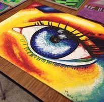 Surreal, Bunt, Augen, Malerei