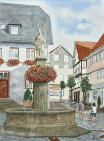 Monument, Lullus, Architektur, Brunnen
