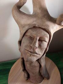 Musik, Frau, Amy, Keramisches skulptur