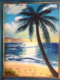 Meer, Palmen, Malerei