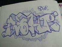 Rohr, Graffiti, Mischtechnik