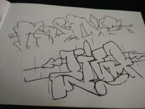 Rudz, Zieh, Graffiti, Mischtechnik