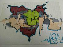 Vlek, Graffiti, Mischtechnik
