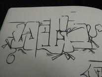 Weed, Graffiti, Mischtechnik