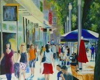 Geschäft, Menschen, Einkaufsstraße, Stadt