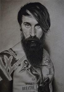 Zeichnung, Menschen, Portrait, Realismus