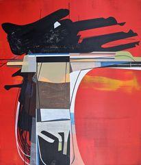 Modern, Abstrakt maleri, Himmel, Abstrakt list