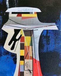 Technologie, Modern, Acrylmalerei, Zeitgenössisch