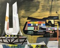 Metaphysisch, Zeitgenössisch, Avantgarde, Acrylmalerei