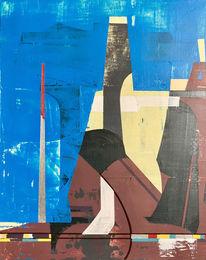 Luft, Abstrakt, Avantgarde, Acrylmalerei