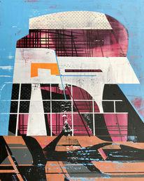 Acrylmalerei, Abstrakt, Metaphysisch, Zeitgenössisch