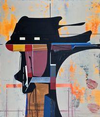 Zeitgenössisch, Orbit, Abstrakt maleri, Avantgarde