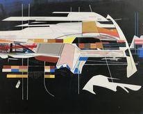 Metaphysisch, Technik, Acrylmalerei, Avantgarde