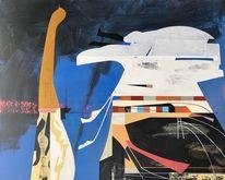 Metaphysisch, Futurismus, Acrylmalerei, Zeitgenössisch