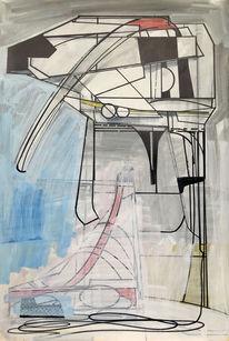 Acrylmalerei, Futurismus, Technologie, Zeichnung