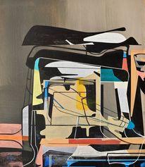 Zeitgenössisch, Gemälde, Modern, Malaria