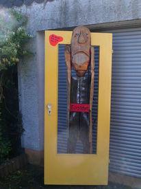 Tür steher, Rein, Kumst, Holz