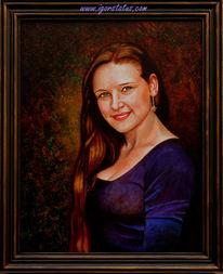 Person, Gesicht, Ölmalerei, Dame