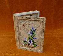 Holz, Box, Key holder, Blumen