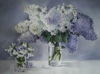 Frühling, Stillleben, Blumen, Aquarell