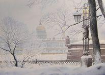 Stadt, Landschaft, Winter, Schnee