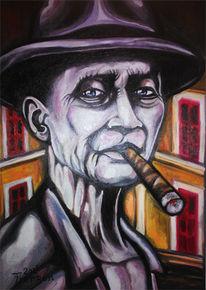 Malerei, Mystik, Zigarre, Bunt