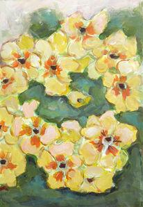Stillleben, Malerei, Blumen, Acrylmalerei