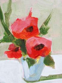 Blumen, Stillleben, Acrylmalerei, Malerei