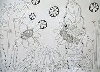 Hummel, Biene, Wespe, Zeichnungen