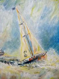 Segelboot sonnenuntergang gemalt  Segelboot - 132 Bilder und Ideen auf KunstNet | Meer, Boot und Wasser