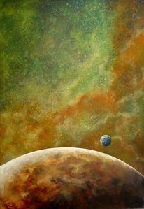 Universum, Planet, Malerei, Nebula