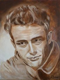 Ölmalerei, Gesicht, Portrait, James dean