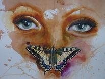 Schmetterling, Augen, Gesicht, Portrait